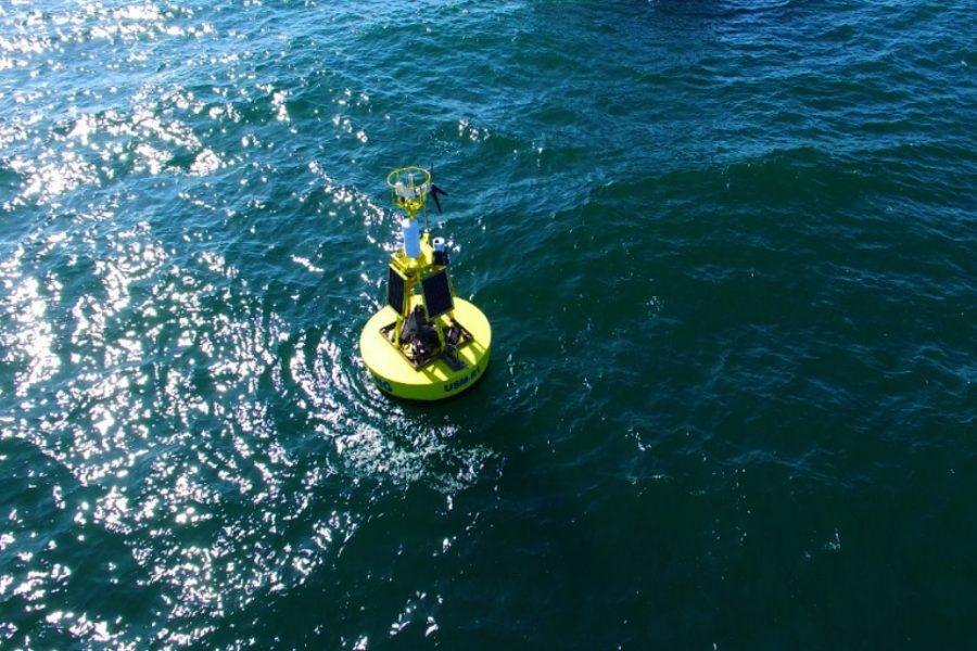 Photo bouée sur la mer